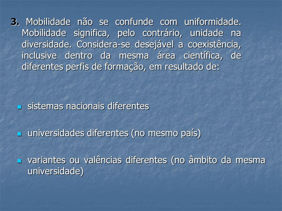 3. Mobilidade não se confunde com uniformidade.