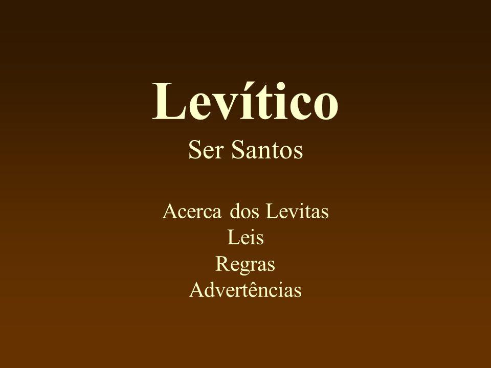 Levítico Ser Santos Acerca dos Levitas Leis Regras Advertências