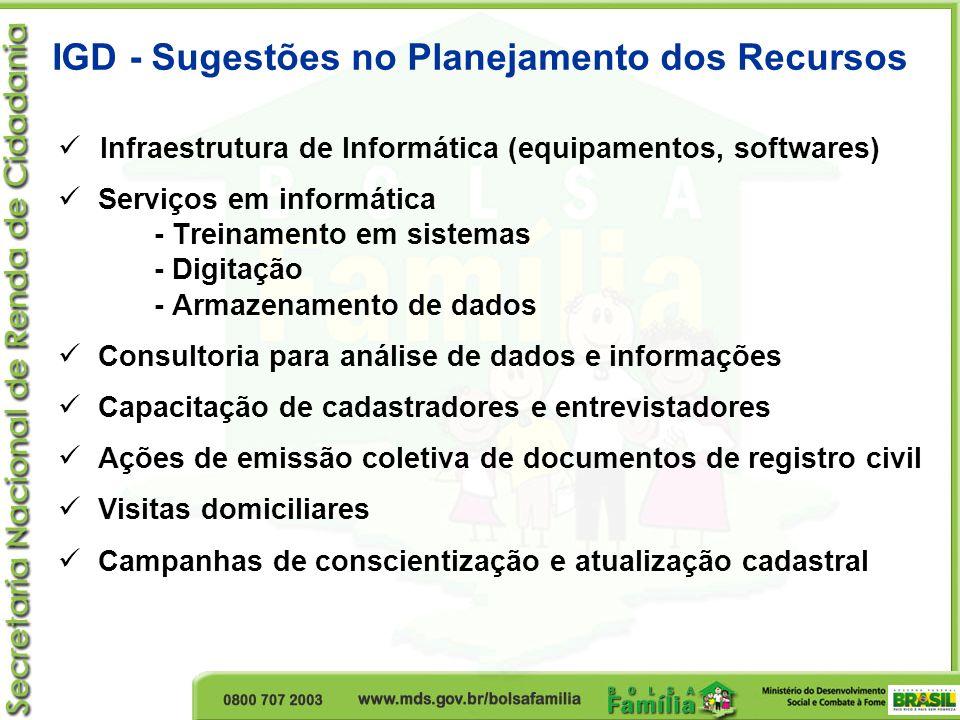  Infraestrutura de Informática (equipamentos, softwares)  Serviços em informática - Treinamento em sistemas - Digitação - Armazenamento de dados  C