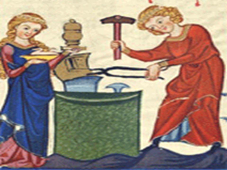 REVOLUÇÃO INDUSTRIAL •O artesanato, primeira forma de produção industrial, surgiu no fim da Idade Média com o renascimento comercial e urbano e definia-se pela produção independente; o produtor possuía os meios de produção: instalações, ferramentas e matéria-prima.