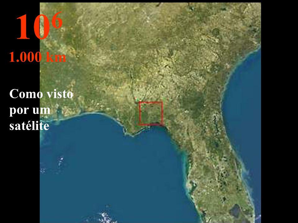 Nesta altura o Estado da Flórida – USA - pode ser visto por completo. 10 5 100 km