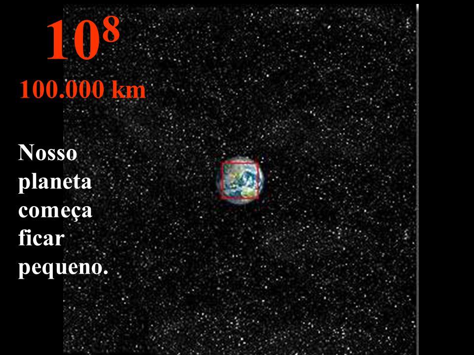 O Hemisfério Norte da Terra, e parte do Hemisfério Sul. 10 7 10.000 km