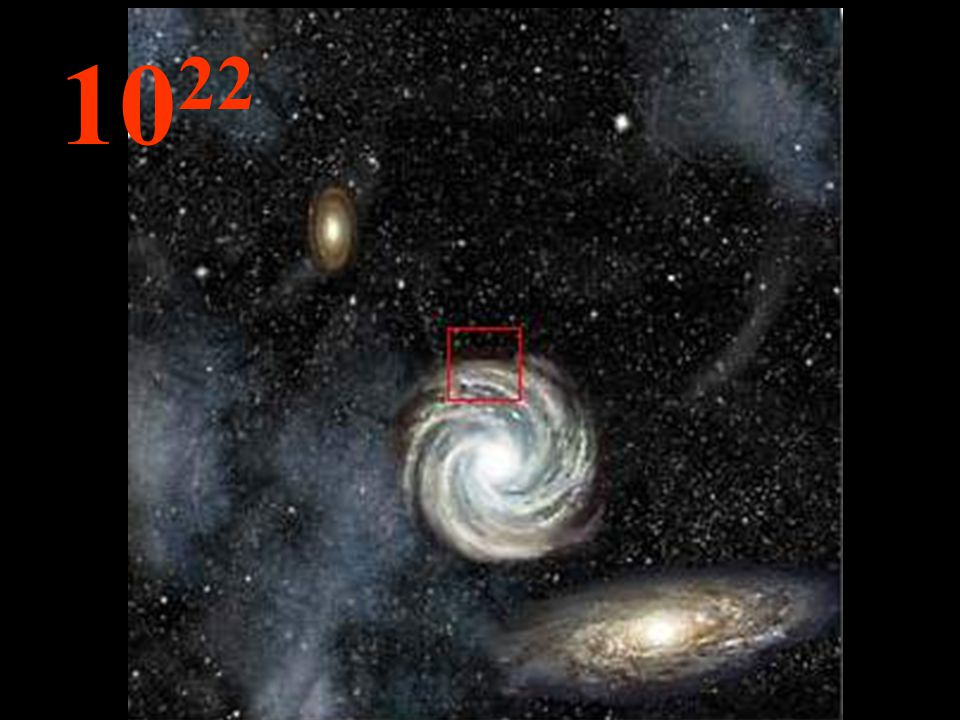 Nessa imensa distância da origem, as galáxias tornam-se pequenos aglomerados e, entre elas, imensidões de espaços vazios .