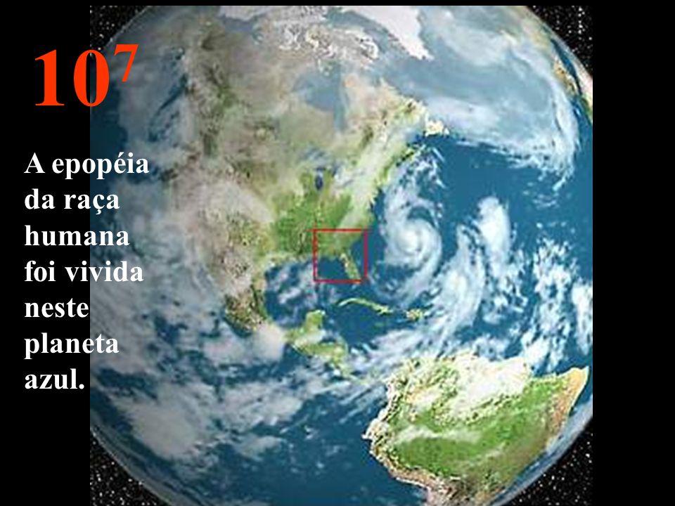 10 8 Vamos agora reduzir a velocidade de volta. Já podemos novamente ver a nossa querida Terra.