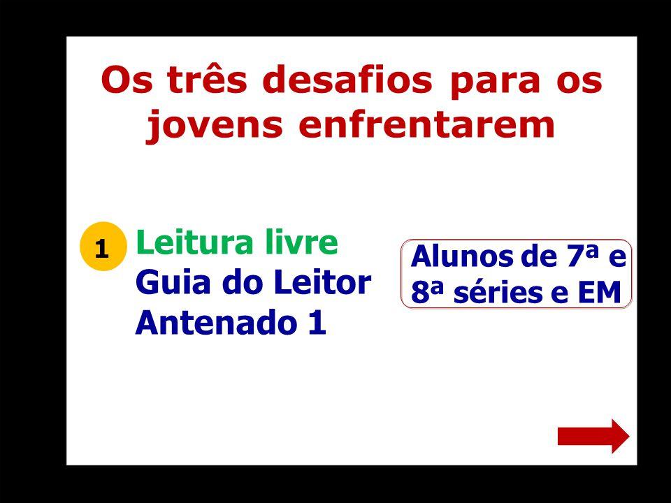 Alunos de 7ª e 8ª séries e EM 1 Os três desafios para os jovens enfrentarem Leitura livre Guia do Leitor Antenado 1