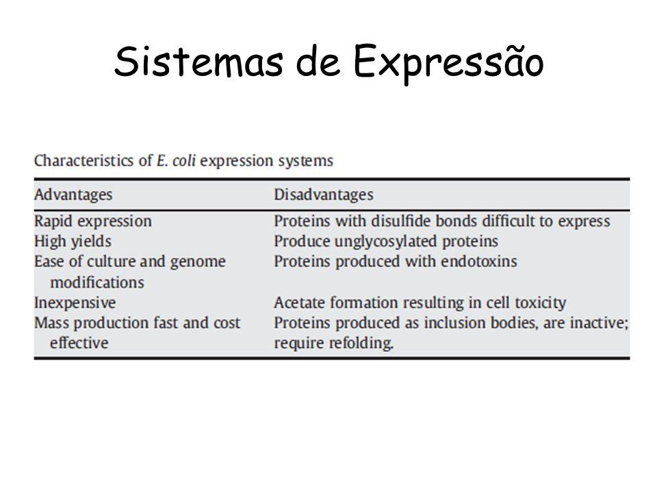 Desvantagem: Produz muitas proteases!!