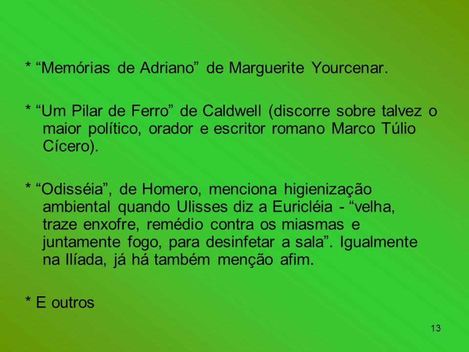 13 * Memórias de Adriano de Marguerite Yourcenar.