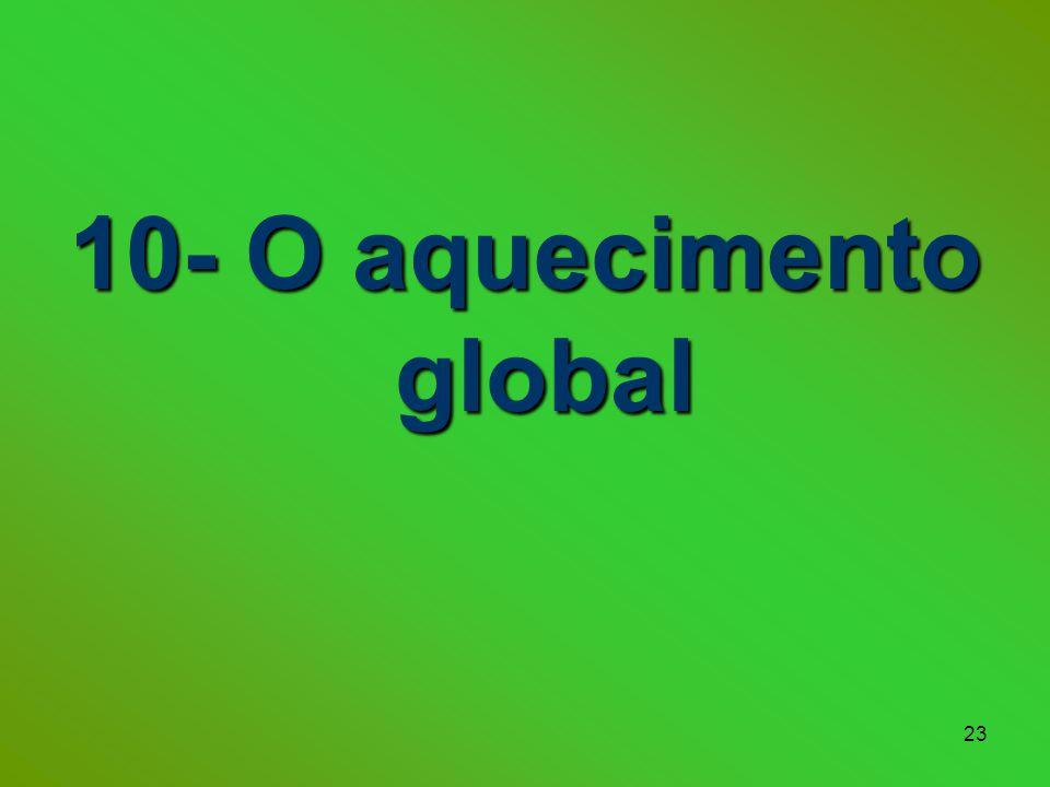 23 10- O aquecimento global