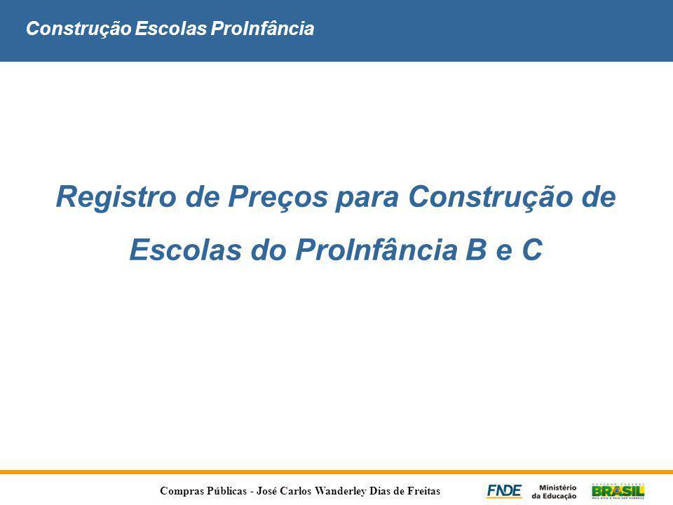 Construção Escolas ProInfância Registro de Preços para Construção de Escolas do ProInfância B e C Compras Públicas - José Carlos Wanderley Dias de Fre