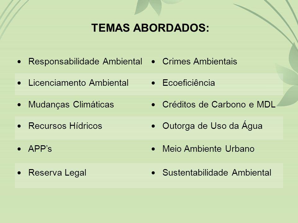 Apresentação: GUILHERME DALLACOSTA Advogado OAB/SC 17.965 Especialista em Direito do Meio Ambiente e Recursos Hídricos pela UFCG/PB dallacosta@gdr.adv.br (48) 9988-6864