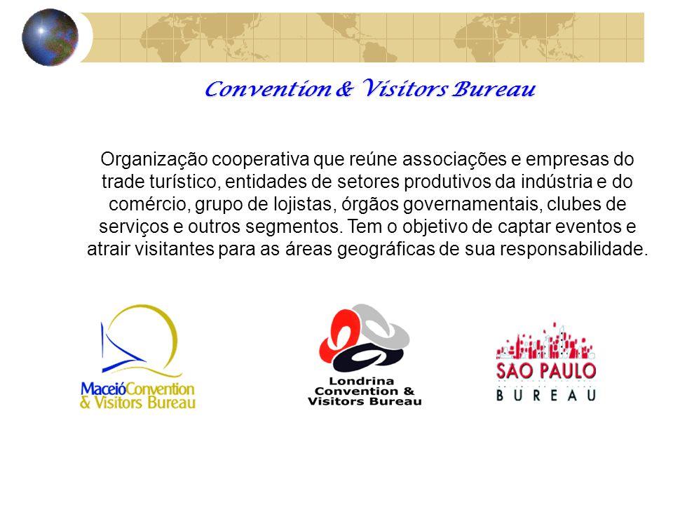 Convention & Visitors Bureau Organização cooperativa que reúne associações e empresas do trade turístico, entidades de setores produtivos da indústria