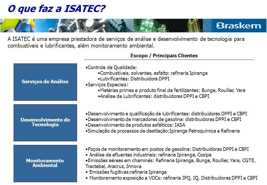 A ISATEC está localizada na cidade de Rio Grande-RS (300 km de POA), ao lado da Refinaria de Petróleo Ipiranga.