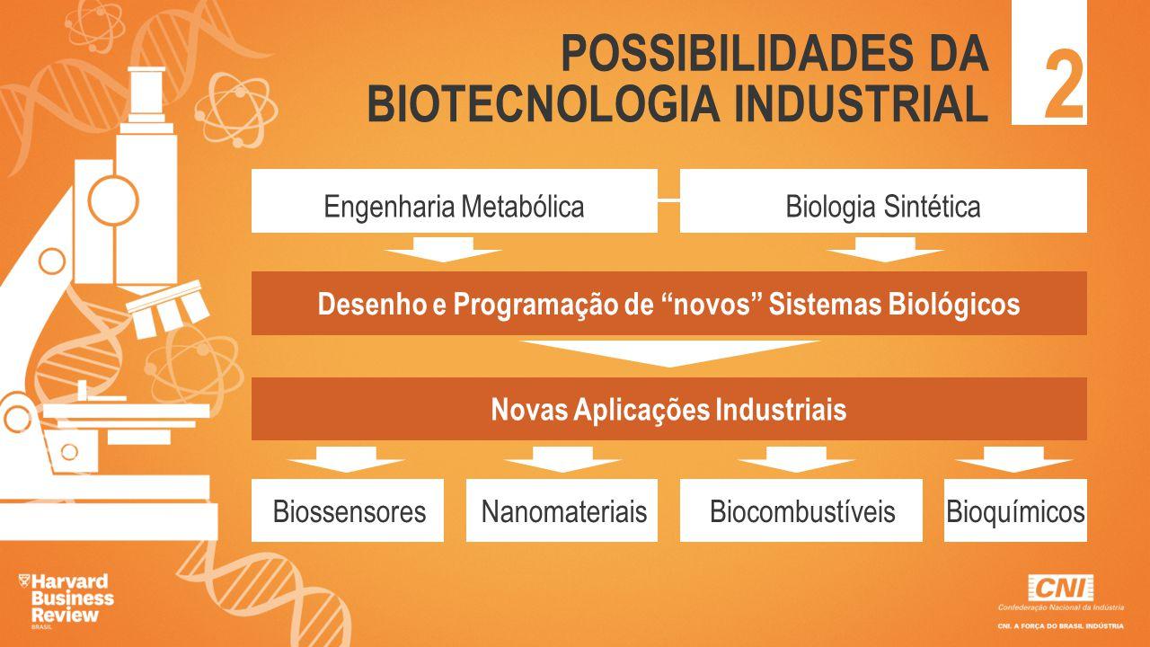 """2 POSSIBILIDADES DA BIOTECNOLOGIA INDUSTRIAL Engenharia MetabólicaBiologia Sintética Desenho e Programação de """"novos"""" Sistemas Biológicos Novas Aplica"""