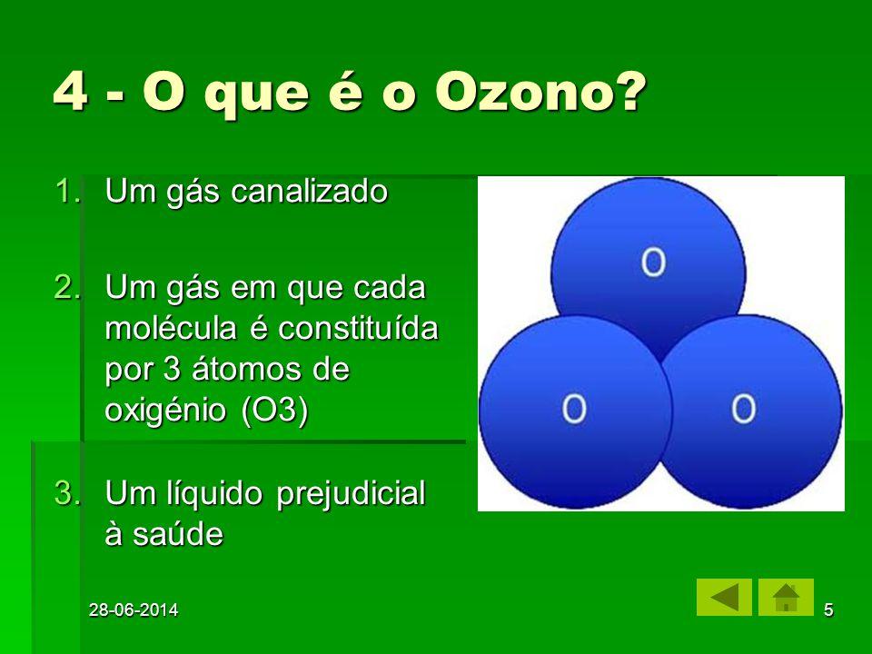 28-06-20144 1.Buraco do Ozono Buraco do OzonoBuraco do Ozono 2.Fábricas a mais Fábricas a maisFábricas a mais 3.Deflorestação Deflorestação 3 – Que pr