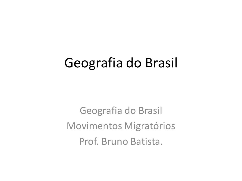 A migração interna no Brasil acontece principalmente por motivos econômicos e desastres ecológicos.