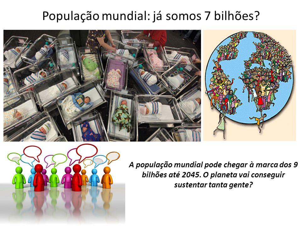 População mundial: já somos 7 bilhões? A população mundial pode chegar à marca dos 9 bilhões até 2045. O planeta vai conseguir sustentar tanta gente?