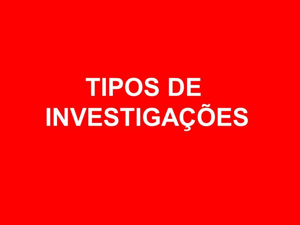 TIPOS DE INVESTIGAÇÕES