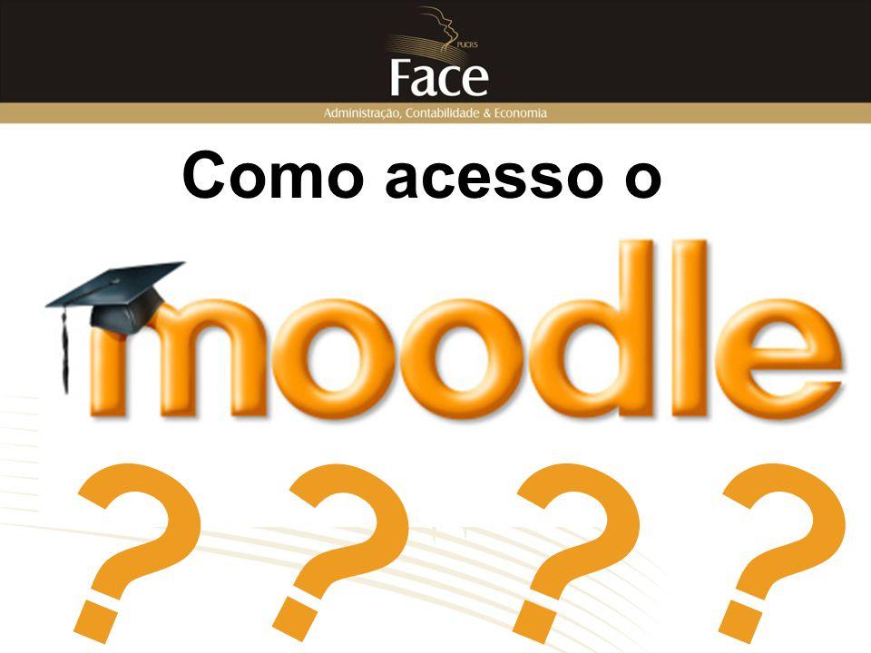 Informações A partir de 2008/2 o cadastramento do aluno no Moodle ocorre automaticamente no momento da matrícula.