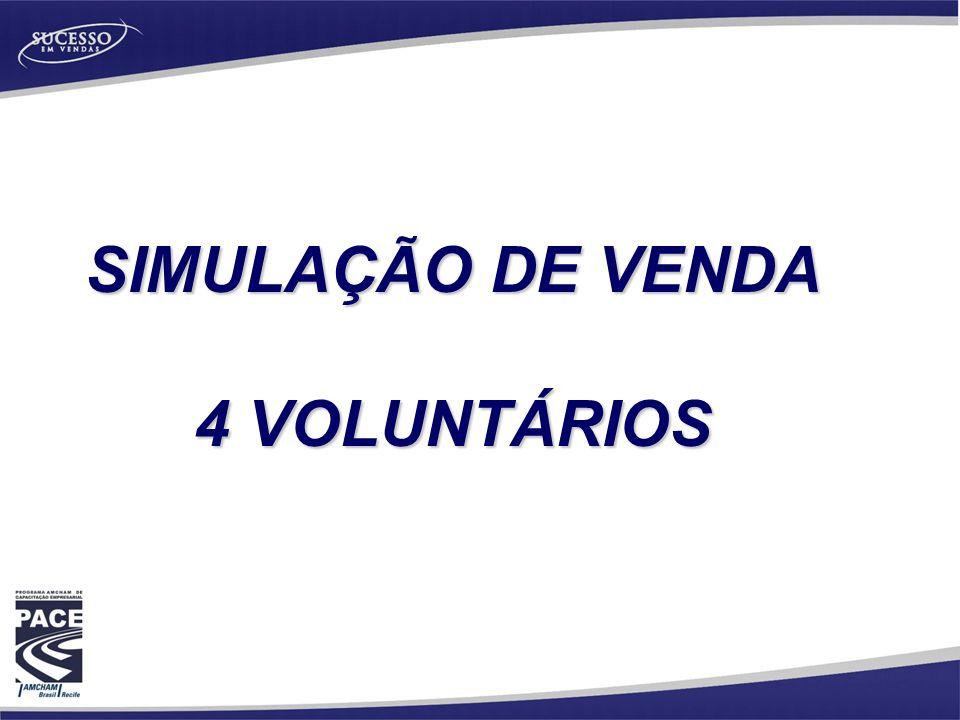 SIMULAÇÃO DE VENDA 4 VOLUNTÁRIOS