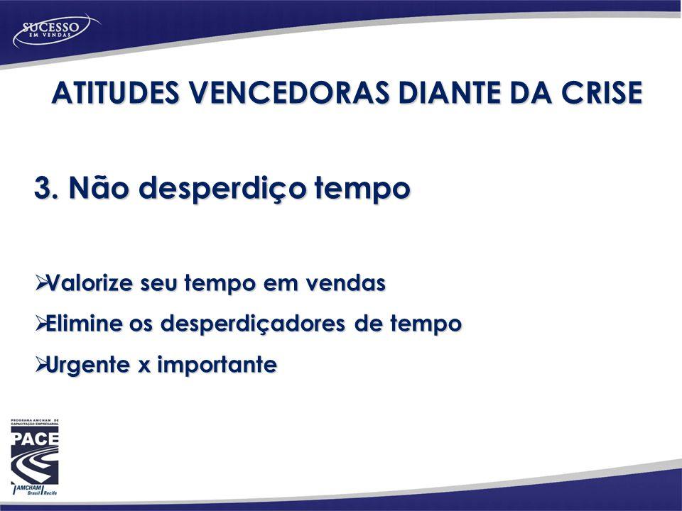 ATITUDES VENCEDORAS DIANTE DA CRISE 3.