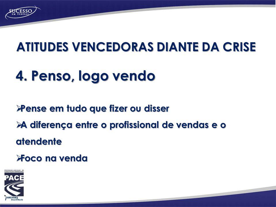 ATITUDES VENCEDORAS DIANTE DA CRISE 4.