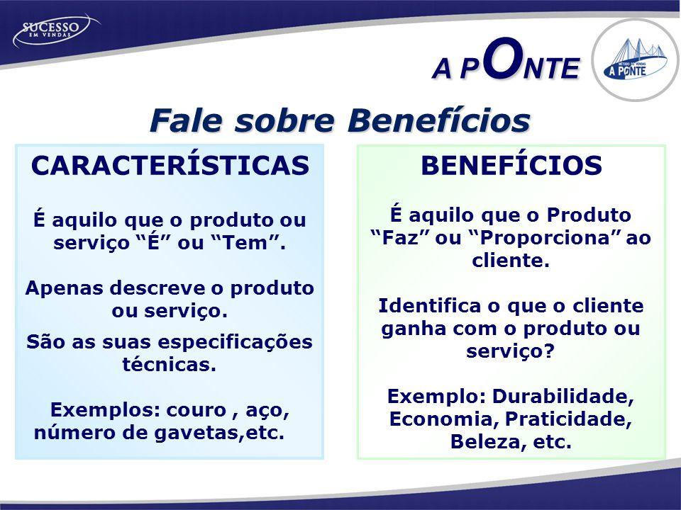 Fale sobre Benefícios BENEFÍCIOS É aquilo que o Produto Faz ou Proporciona ao cliente.