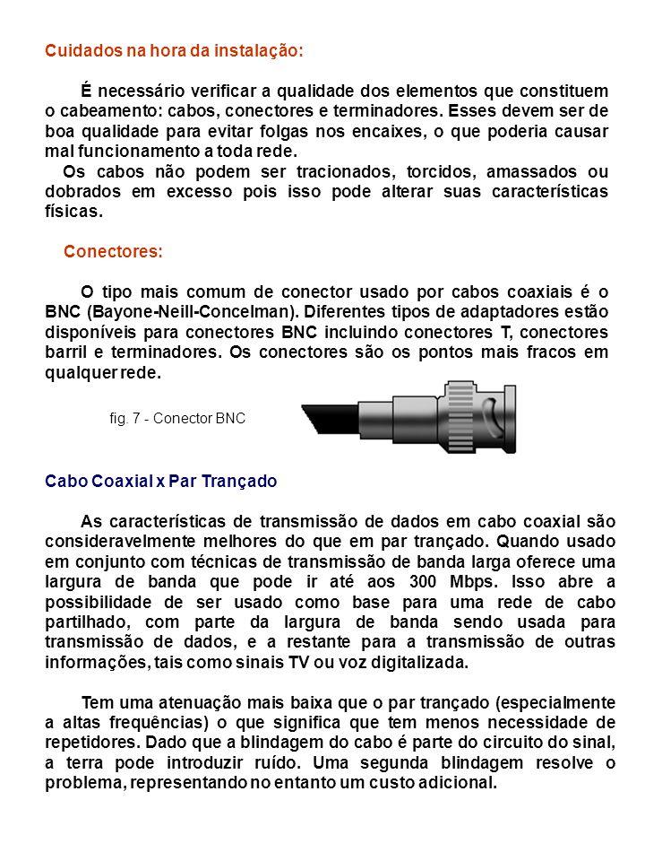 2.3.6.Comparação das Fibras Óticas e dos Fios de Cobre É instrutivo comparar a fibra com o cobre.