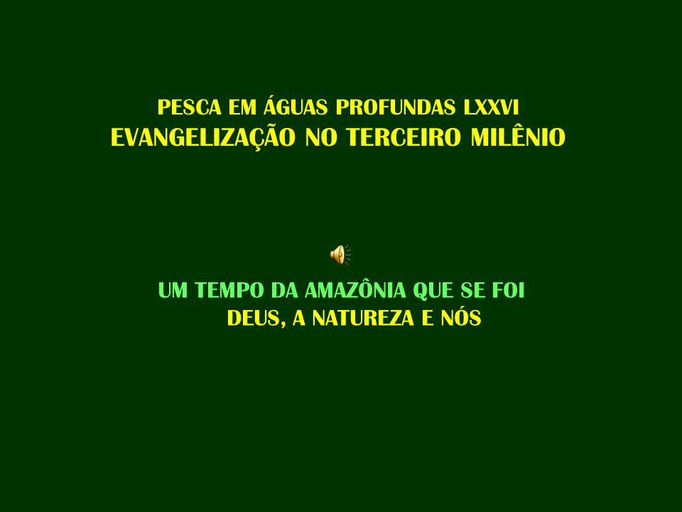 PESCA EM ÁGUAS PROFUNDAS LXXVI EVANGELIZAÇÃO NO TERCEIRO MILÊNIO UM TEMPO DA AMAZÔNIA QUE SE FOI DEUS, A NATUREZA E NÓS