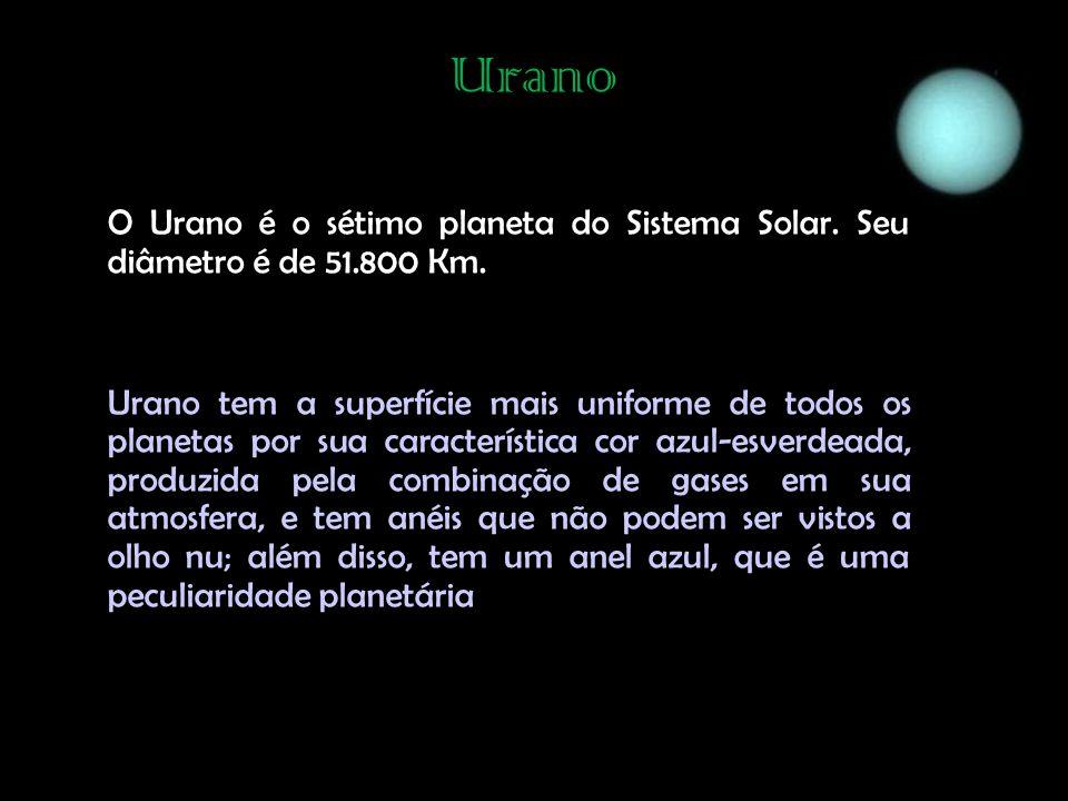 Urano O Urano é o sétimo planeta do Sistema Solar.