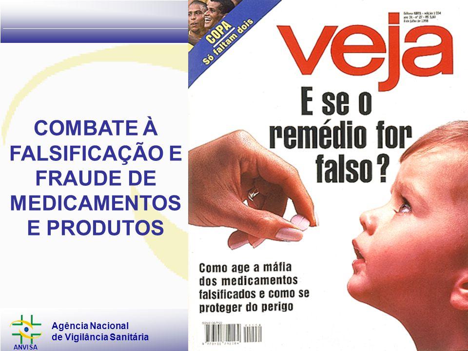 Agência Nacional de Vigilância Sanitária ANVISA www.anvisa.gov.br GFIMP COMBATE À FALSIFICAÇÃO E FRAUDE DE MEDICAMENTOS E PRODUTOS