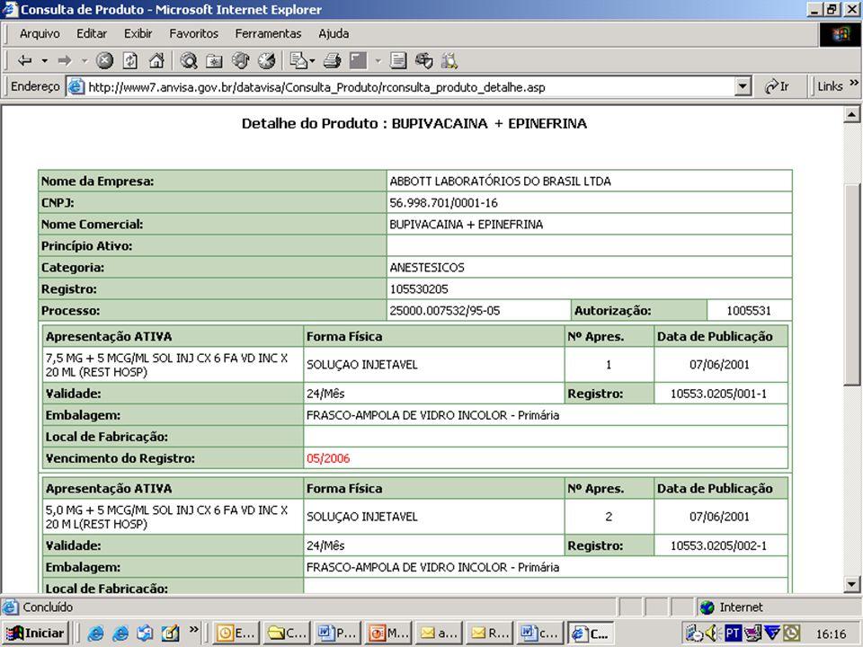 Agência Nacional de Vigilância Sanitária ANVISA www.anvisa.gov.br GFIMP