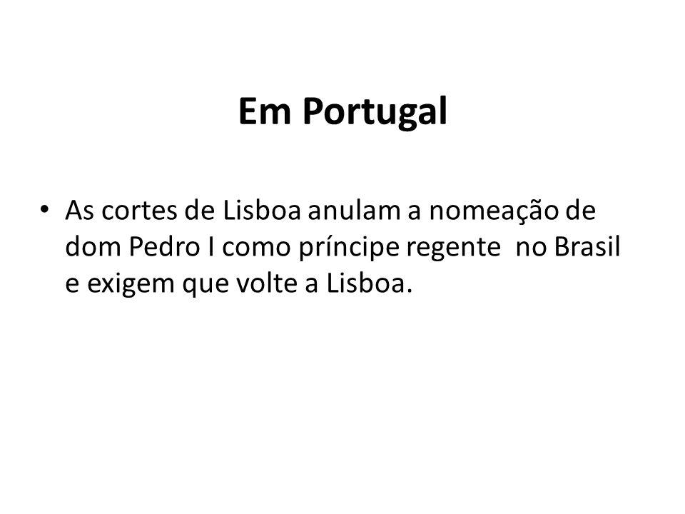 As 3 correntes Políticas no Brasil • Partido Português: se reuniam em torno de todos aqueles que tinham interesse em restabelecer a antiga subordinação colonial a Portugal.