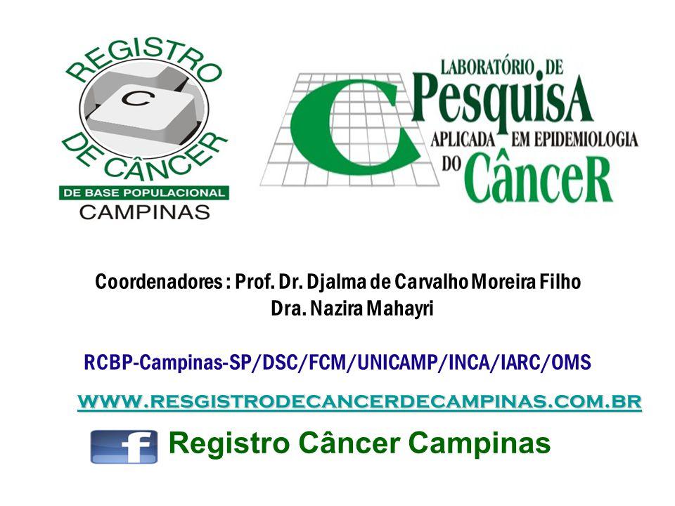 www.resgistrodecancerdecampinas.com.br www.resgistrodecancerdecampinas.com.br Coordenadores : Prof. Dr. Djalma de Carvalho Moreira Filho Dra. Nazira M