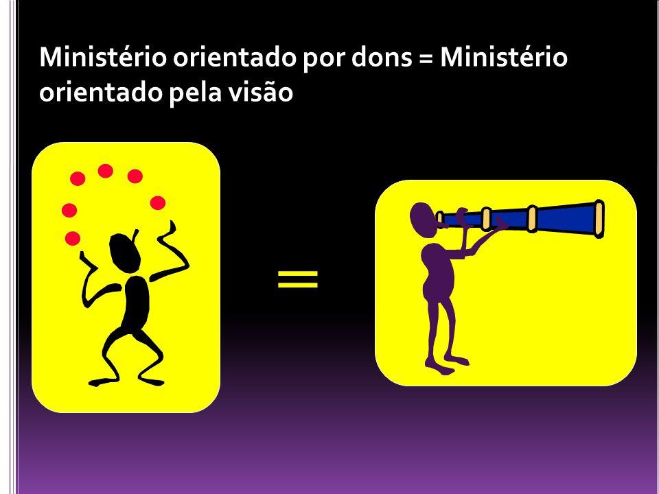 Ministério orientado por dons = Ministério orientado pela visão =