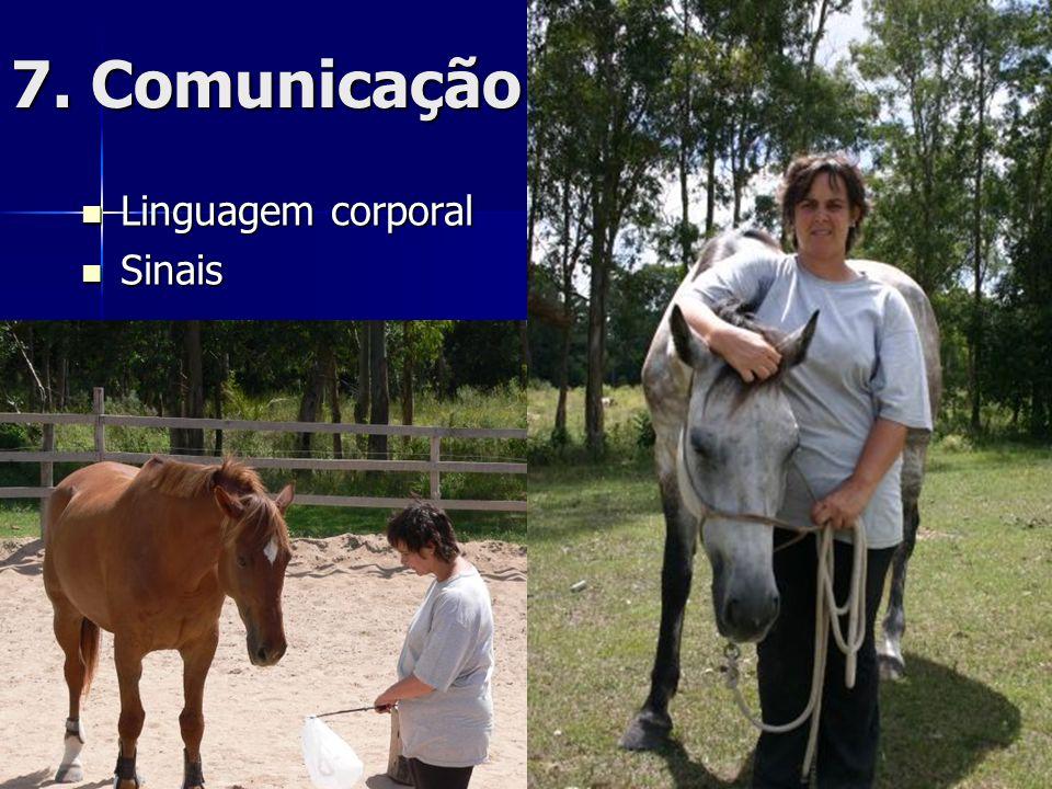 7. Comunicação  Linguagem corporal  Sinais