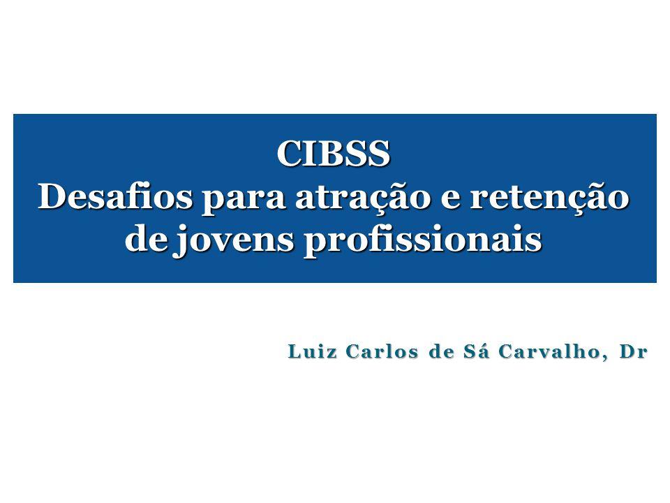 Luiz Carlos de Sá Carvalho, Dr CIBSS Desafios para atração e retenção de jovens profissionais