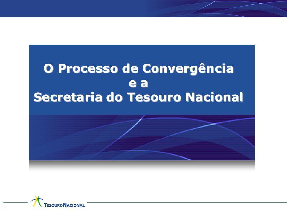 O Processo de Convergência e a Secretaria do Tesouro Nacional 2