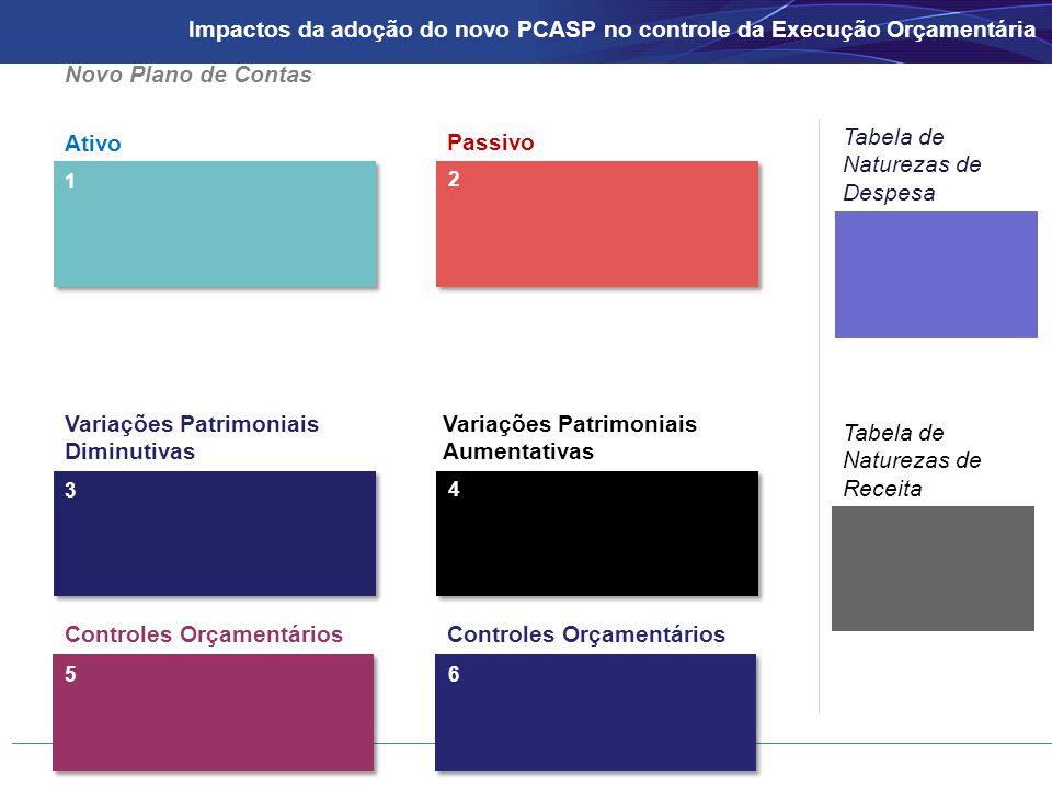 Ativo Passivo 1 2 Novo Plano de Contas Tabela de Naturezas de Despesa Tabela de Naturezas de Receita 3 4 Controles Orçamentários 56 Variações Patrimon