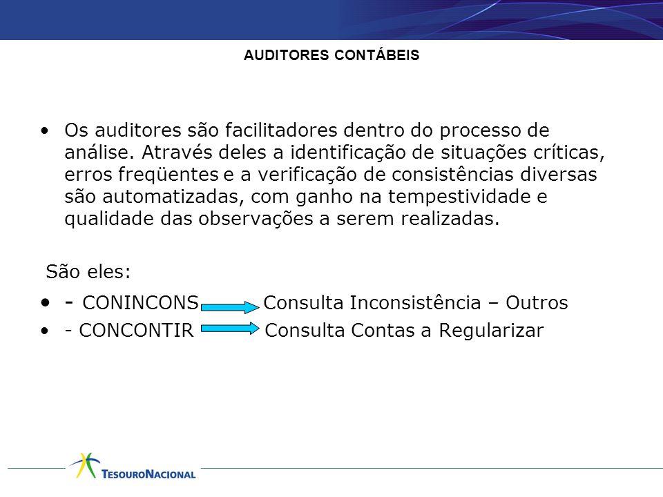AUDITORES CONTÁBEIS •Os auditores são facilitadores dentro do processo de análise. Através deles a identificação de situações críticas, erros freqüent