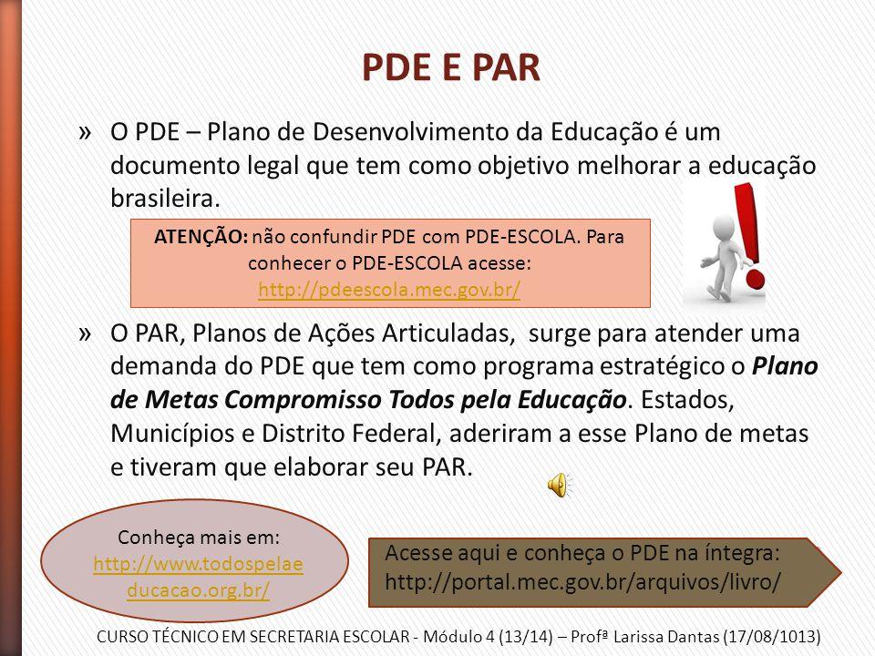 CURSO TÉCNICO EM SECRETARIA ESCOLAR - Módulo 4 (13/14) – Profª Larissa Dantas (17/08/1013) » O SIMEC tem a função primordial de monitorar e controlar