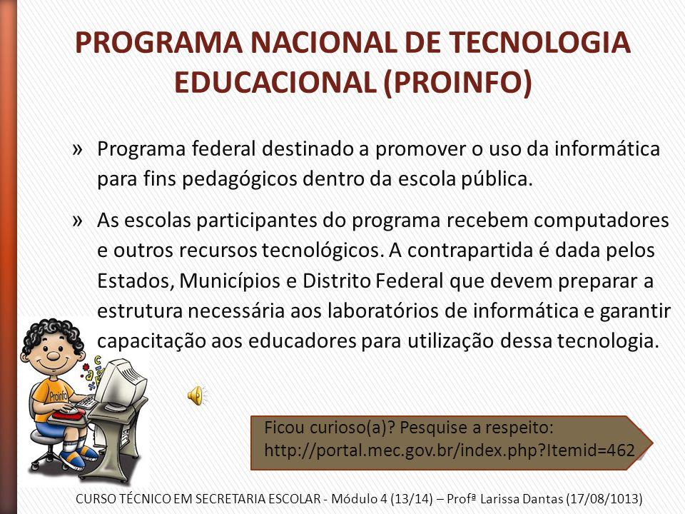CURSO TÉCNICO EM SECRETARIA ESCOLAR - Módulo 4 (13/14) – Profª Larissa Dantas (17/08/1013) » Ação que estimula a criação de Conselhos Municipais de Ed