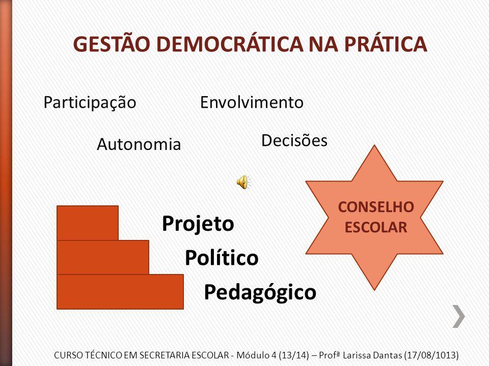 """CURSO TÉCNICO EM SECRETARIA ESCOLAR - Módulo 4 (13/14) – Profª Larissa Dantas (17/08/1013) » Democracia: """"o poder emana do povo"""" (Rousseau) » Contexto"""
