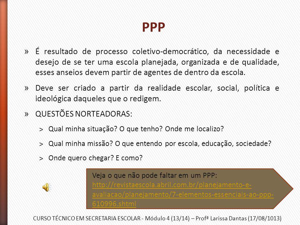 CURSO TÉCNICO EM SECRETARIA ESCOLAR - Módulo 4 (13/14) – Profª Larissa Dantas (17/08/1013) Pais/Responsáveis CONSELHO ESCOLAR Alunos Professores Funci