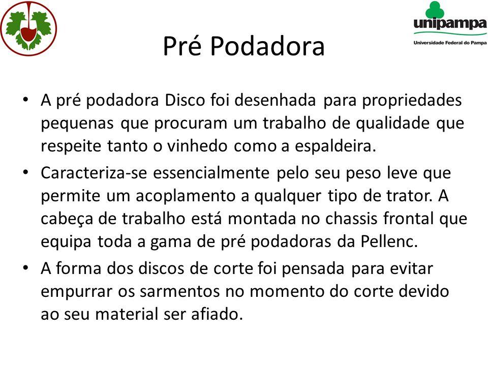 Pré Podadora • A pré podadora Disco foi desenhada para propriedades pequenas que procuram um trabalho de qualidade que respeite tanto o vinhedo como a espaldeira.