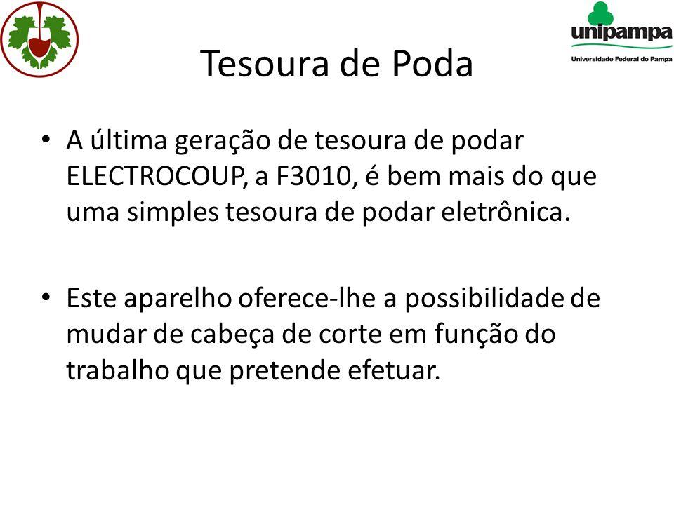 Tesoura de Poda • A última geração de tesoura de podar ELECTROCOUP, a F3010, é bem mais do que uma simples tesoura de podar eletrônica.