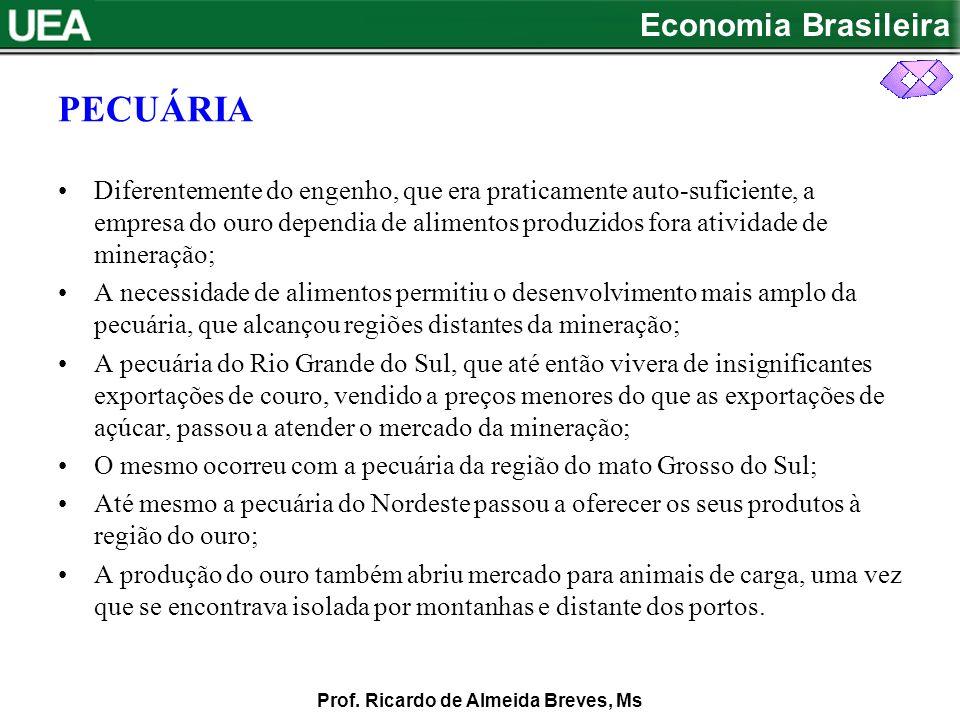 Economia Brasileira Prof.Ricardo de Almeida Breves, Ms ASPECTOS DA ECONOMIA NO SÉC.