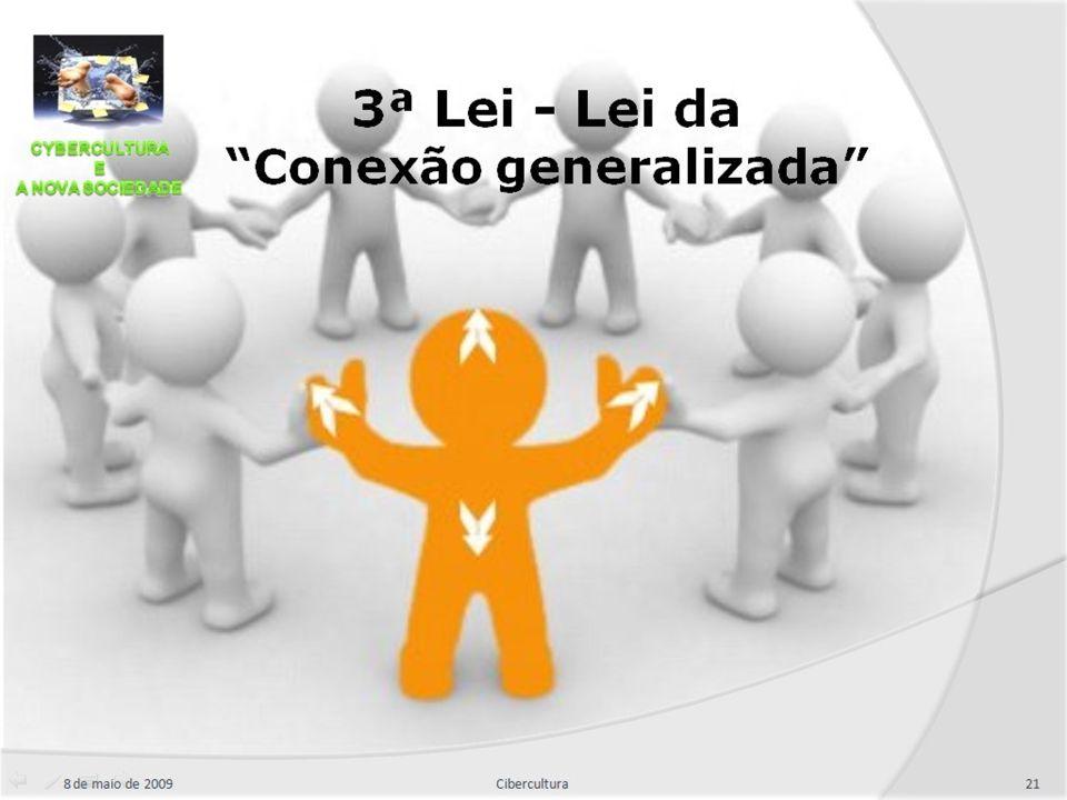 """8 de maio de 200921Cibercultura 3ª Lei - Lei da """"Conexão generalizada"""""""