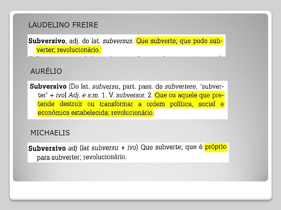 LAUDELINO FREIRE AURÉLIO MICHAELIS