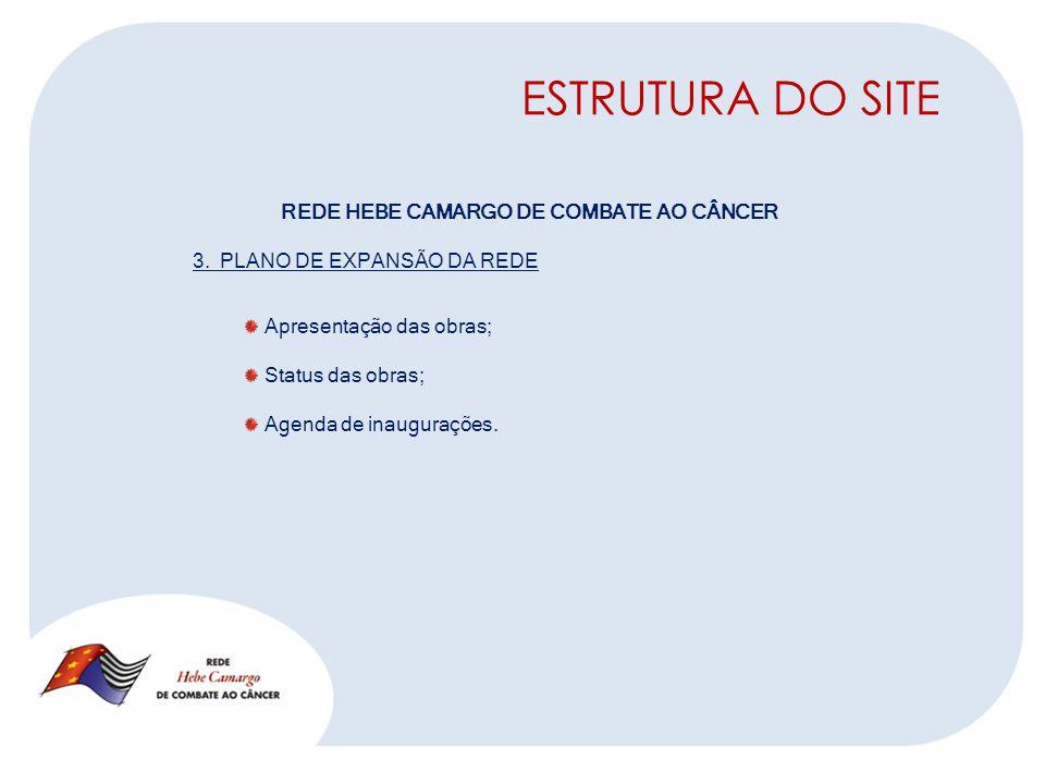 ESTRUTURA DO SITE REDE HEBE CAMARGO DE COMBATE AO CÂNCER 3.