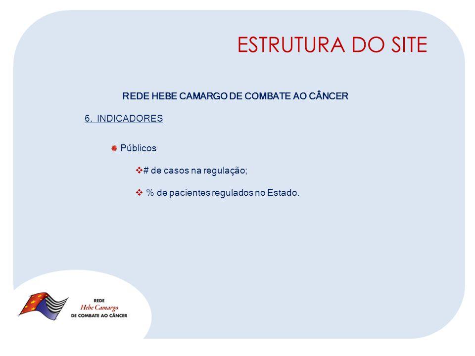 ESTRUTURA DO SITE REDE HEBE CAMARGO DE COMBATE AO CÂNCER 6.
